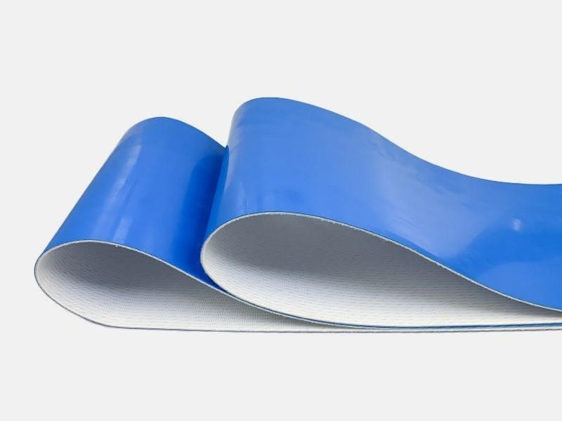 蓝色pu输送带