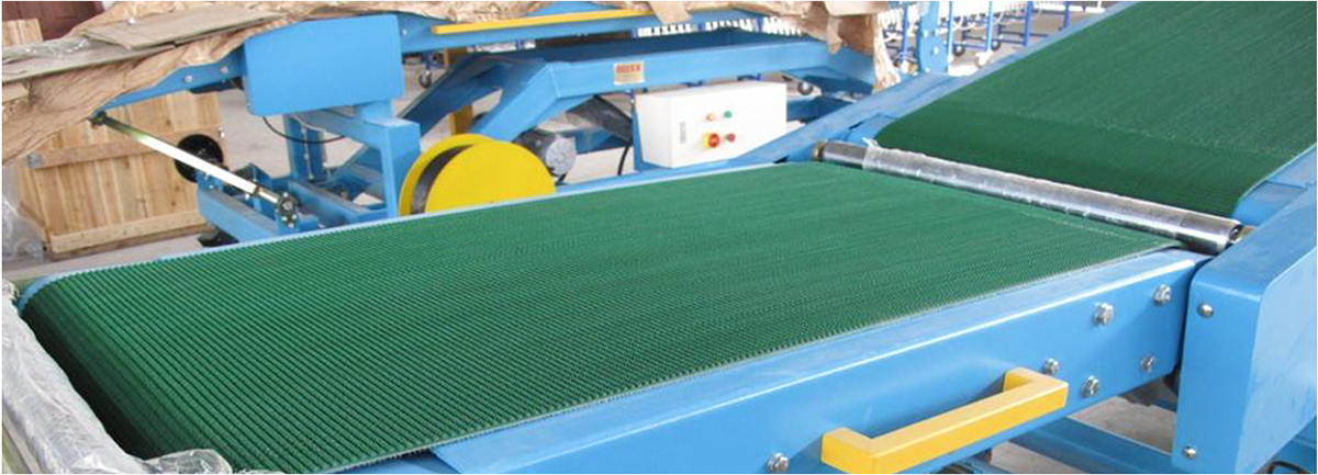 绿色草纹输送带应用行业
